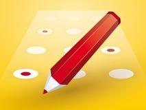 Crayon rouge avec des formes Image stock