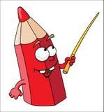 Crayon rouge d'école Illustration Libre de Droits