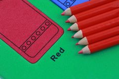 crayon rouge de crayon Images stock