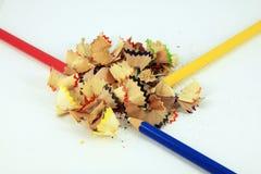 Crayon sawdust Royalty Free Stock Image