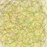 Crayon scribble in spring colors Stock Images