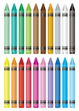 Crayon selection Royalty Free Stock Photos