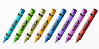 Crayon set Stock Photos