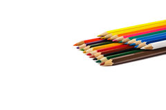Set of colored crayons on white background, appear Royalty Free Stock Photo
