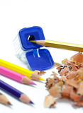 Crayon shavings Royalty Free Stock Photos