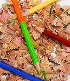 Crayon shavings Stock Image