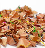 Crayon shavings Stock Photos