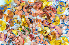 Crayon shavings Royalty Free Stock Images