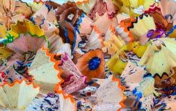 Crayon shavings Stock Photo