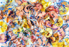 Crayon shavings Stock Images