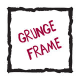 Crayon square frame isolated on white. Hand drawn grunge square. Doodle shape with text isolated on white background. Textured frame hand painted with crayon stock illustration
