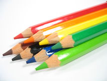 Crayon Stack I. Colored wooden crayons Royalty Free Stock Photo