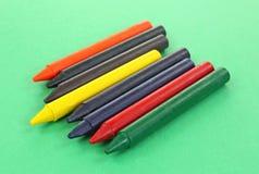Crayon Sticks Large on Green Stock Photos