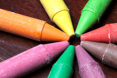 Crayon sticks Royalty Free Stock Images