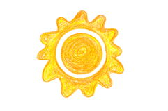Crayon Sun Stock Photography