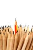 Crayon sur la direction blanche d'idée de concept de fond Image libre de droits