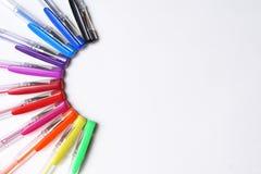 Crayon sur le blanc Photographie stock libre de droits