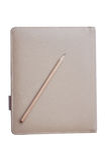 Crayon sur le carnet brun Photos libres de droits