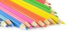 Crayon Tips. Macroshot of some pencil tips Stock Photography