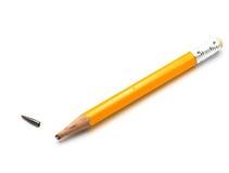 Crayon utilisé image stock