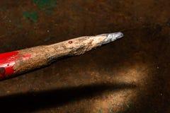 Crayon utilisé inégal photo stock