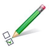 crayon vert de liste de contrôle Image stock