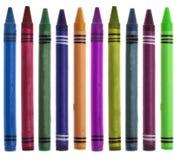 Crayon vibrant de nouveau à l'image de cadre d'école images stock