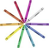 Crayon Wheel Of Color - Vector Illustration Stock Photo