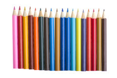 Crayon on white Stock Image