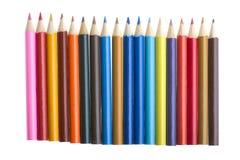 Crayon on white Stock Image