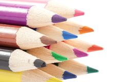 Crayon on white background Royalty Free Stock Photo
