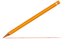Crayon With Drawn Line Royalty Free Stock Photo