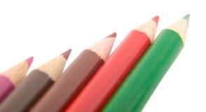 crayonblyertspennor Arkivfoto