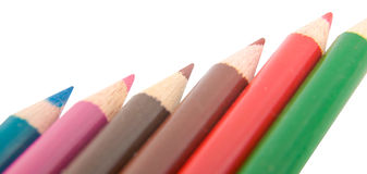 crayonblyertspennor Arkivbild