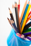 crayonblyertspennor Arkivbilder