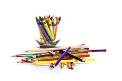crayonen blandade Arkivbild