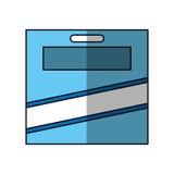 Crayonnent l'icône de boîte de couleurs Photo libre de droits