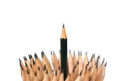 crayonnez l'art en bois sur l'idée blanche de concept de fond Photographie stock