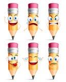 Crayonnez les expressions du visage de caractère, les émotions et les gestes de main Photographie stock