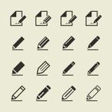 Crayonnez une icône Photos libres de droits