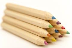 crayonpyramid Arkivfoto