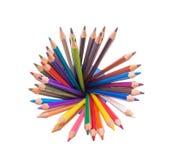 Crayons éclatants de couleur Image stock