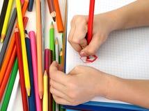 Crayons éducatifs Photographie stock libre de droits