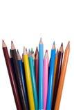 Crayons éventés Images stock