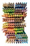 crayons övre sikt Royaltyfri Fotografi