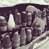 Crayons в коробке Стоковые Изображения RF