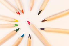 Crayons в круге Стоковое Фото