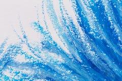 crayons голубая рамка Стоковое Изображение