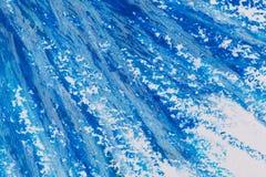 crayons голубая рамка Стоковые Изображения