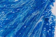 crayons голубая рамка Стоковая Фотография RF